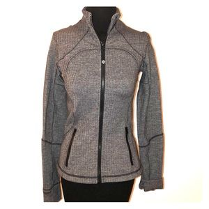 Lululemon Heathered Chevron Gray Full Zip Jacket 6